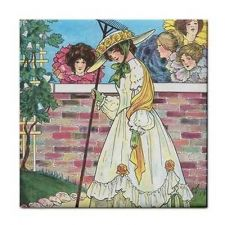 Buy Mary Quite Contrary Rhyme Vintage Art Ceramic Tile