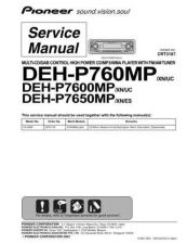 Buy Pioneer DEH-P7600MP-3 Service Manual by download Mauritron #233590
