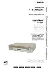Buy Hitachi VTFX980ENAV DE Manual by download Mauritron #225800
