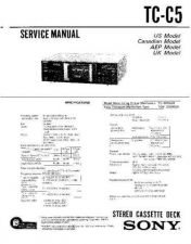Buy Sony TC-C5-C521 Service Manual. by download Mauritron #245338