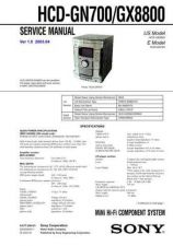 Buy Sony HCD-GN700-GX8800 Service Manual by download Mauritron #232025