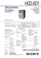 Buy Sony HCD-ED1 Manual by download Mauritron #229091