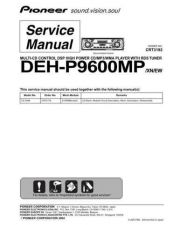 Buy Pioneer deh-p9600mp-2 Service Manual by download Mauritron #233884