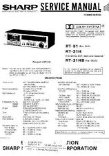 Buy Sharp RT31-H-HB Service Manual by download Mauritron #210338