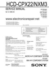 Buy Sony SONY-HCD-NXM3 Manual by download Mauritron #229740