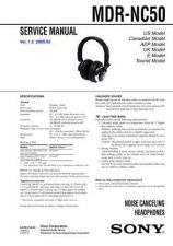 Buy Sony MDR-NC50 Service Manual by download Mauritron #232209