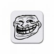 Buy Troll Guy Internet Meme Rage Face Set Of 4 Square Rubber Coasters