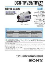 Buy Sony DCR-TRV38TRV38ETRV39 RMT-814 Technical Information by download Mauritron #