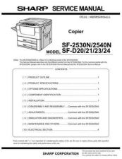 Buy Sharp SF2540-D23-D24-DM11 (1) Service Manual by download Mauritron #210530
