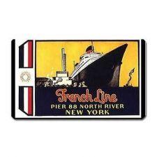 Buy Cruise Ship French Line Retro Travel Art Souvenir Vinyl Magnet