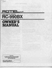 Buy ROTEL RC990BX Manual by download Mauritron #230386