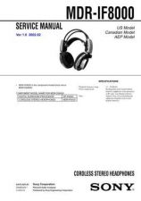 Buy Sony MDR-IF8000 Service Manual. by download Mauritron #242598