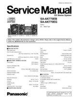 Buy Panasonic sa_ax6_pp Service Manual by download Mauritron #268607