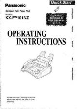 Buy Panasonic KXFP81 FP85 Operating Instruction Book by download Mauritron #236032