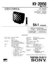 Buy Sony KV-20V50 Manual by download Mauritron #229534