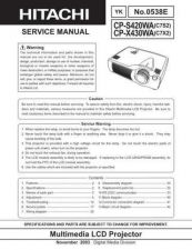 Buy Hitachi CPX807 Service Manual by download Mauritron #261134