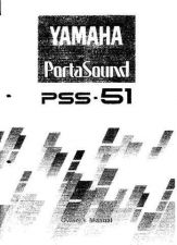 Buy Yamaha PSS51E Operating Guide by download Mauritron #249466