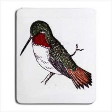 Buy Hummingbird Bird Art Sketch Computer Mouse Pad