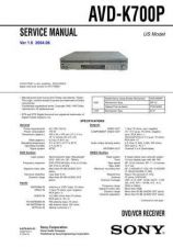 Buy Sony AVD-K700P Manual by download Mauritron #228901