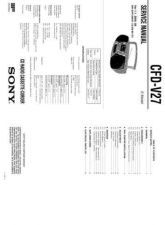 Buy Sony CFS-1085SMK2 Service Manual by download Mauritron #244160