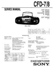 Buy Sony CFD-703 Service Manual by download Mauritron #238761