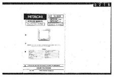 Buy Hitachi CMT-2192-T] Service Manual by download Mauritron #260778