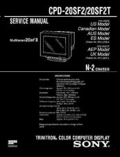 Buy Sony CDP-20SF2.20SF2T Service Manual by download Mauritron #237208