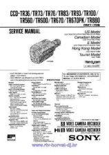 Buy Sony CCD-Z7Z7E Service Manual by download Mauritron #237186