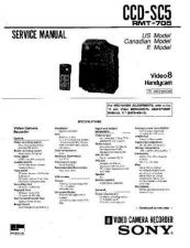 Buy Sony CCD-SC5 Manual by download Mauritron #228984