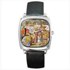 Buy Queen Of Hearts Alice In Wonderland Color Art Square Wrist Watch