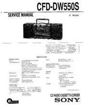 Buy Sony CFD-DW550S Service Manual by download Mauritron #238788