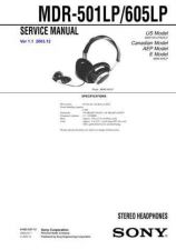 Buy Sony MDR-501LP-605LP Service Manual. by download Mauritron #242477