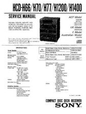 Buy Sony HCD-H1400 Manual by download Mauritron #229177
