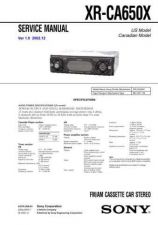 Buy Sony XR-CA610X Service Manual. by download Mauritron #246244