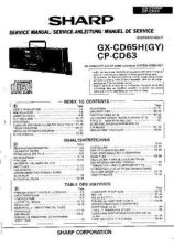 Buy Sharp GXCD65H-CP-CD63 -DE-FR Service Manual by download Mauritron #209703