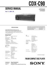 Buy Sony CDX-C760-760RDS------Service Manual by download Mauritron #237604