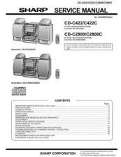 Buy Sharp CDC422 Service Manual by download Mauritron #208495