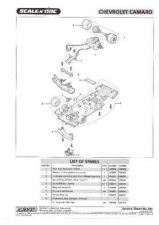 Buy Scalextrix No.334 Chevrolet Camaro Service Sheets by download Mauritron #206420