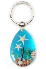 Buy Real Starfish Blue Keychain Acrylic