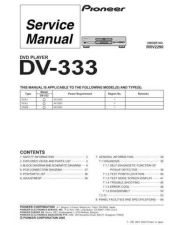 Buy Pioneer DV-333 Service Manual by download Mauritron #234086
