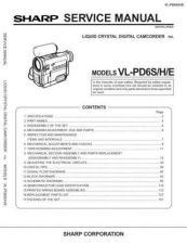 Buy Sharp VLPD-6S-H-E Service Manual by download Mauritron #231587