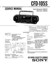 Buy Sony CFD-105 Manual by download Mauritron #229036