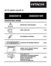 Buy Hitachi 36SDX01S Service Manual by download Mauritron #224064