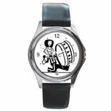 Buy Marching Band Bass Drum Player Retro Art New Wrist Watch