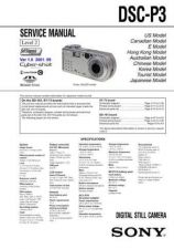 Buy Sony DSC-P32 Service Manual by download Mauritron #240239