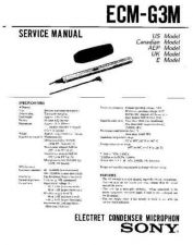 Buy Sony ecm-g3m Service Manual by download Mauritron #240584