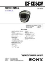 Buy Sony ICF-CD832 Service Manual by download Mauritron #232134