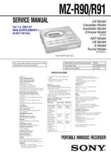 Buy Sony MZ-R900 service manual Technical Manual. by download Mauritron #243193