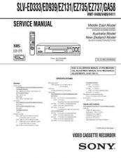 Buy Sony SLV-ED10MJED40MJED60MJ Technical Manual. by download Mauritron #243957