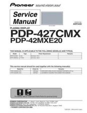 Buy Pioneer PDP-42MXE10-DFK51[2] Service Manual by download Mauritron #234872